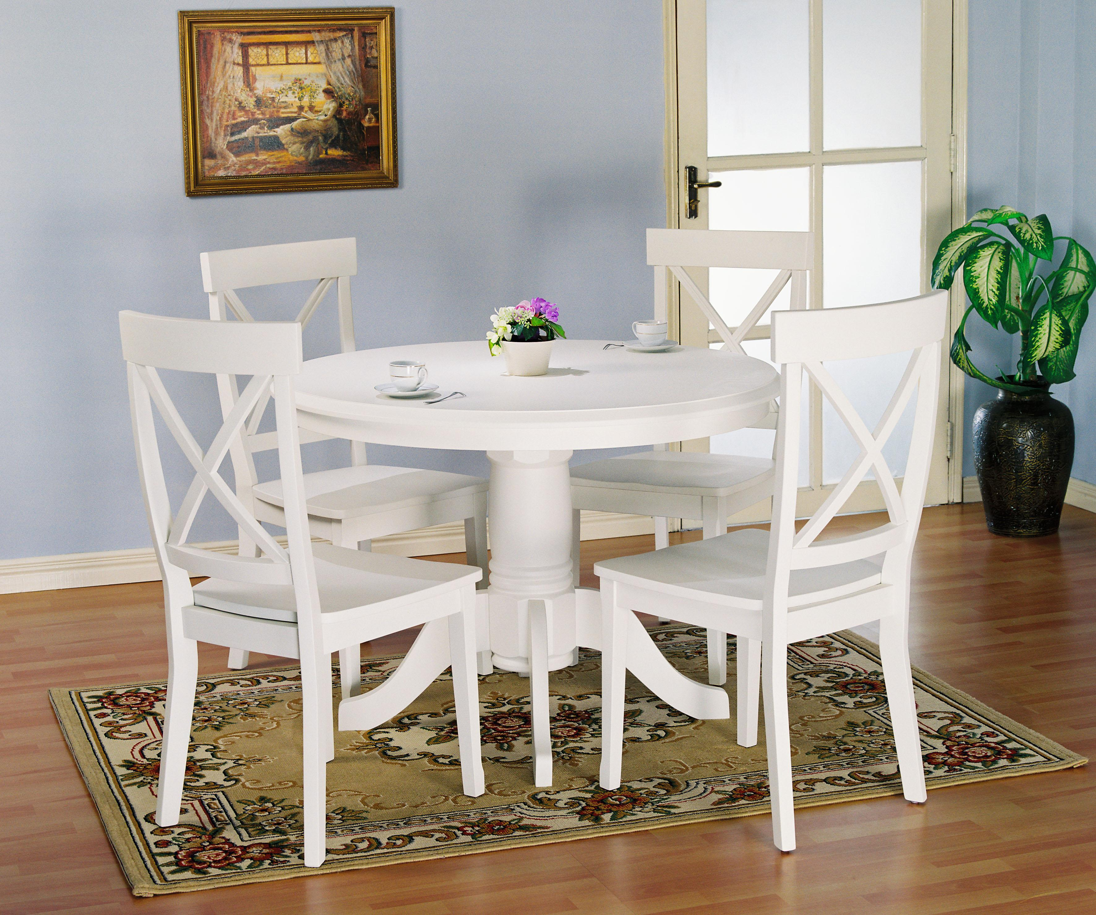 Holland house 1280 5 piece round kitchen table and x back side holland house 1280 5 piece round kitchen table and x back side chairs set godby home furnishings dining 5 piece set noblesville carmel avon workwithnaturefo