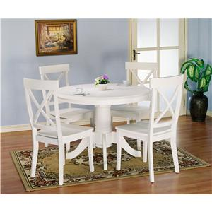 Holland House 1280 5 piece Round Kitchen Table and X Back Side Chairs Set  sc 1 st  Godby Home Furnishings & Holland House 1280 5 piece Round Kitchen Table and X Back Side ...