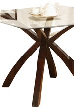 Beautiful Glass Top Table with Modern Pedestal Base