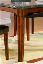 Table Legs Include Tapered Ends