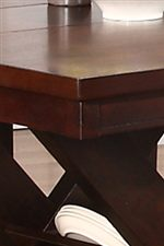 Thick Table Top with Square Corners