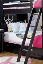 Playful Bunk Bed with Guard Rails & Ladder for Safety & Fun