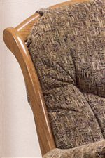 Features Exposed Wood in Glider Rocker Design