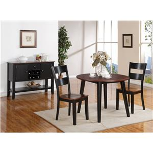 Holland House 8202 Round Drop Leaf Table with Splayed Legs