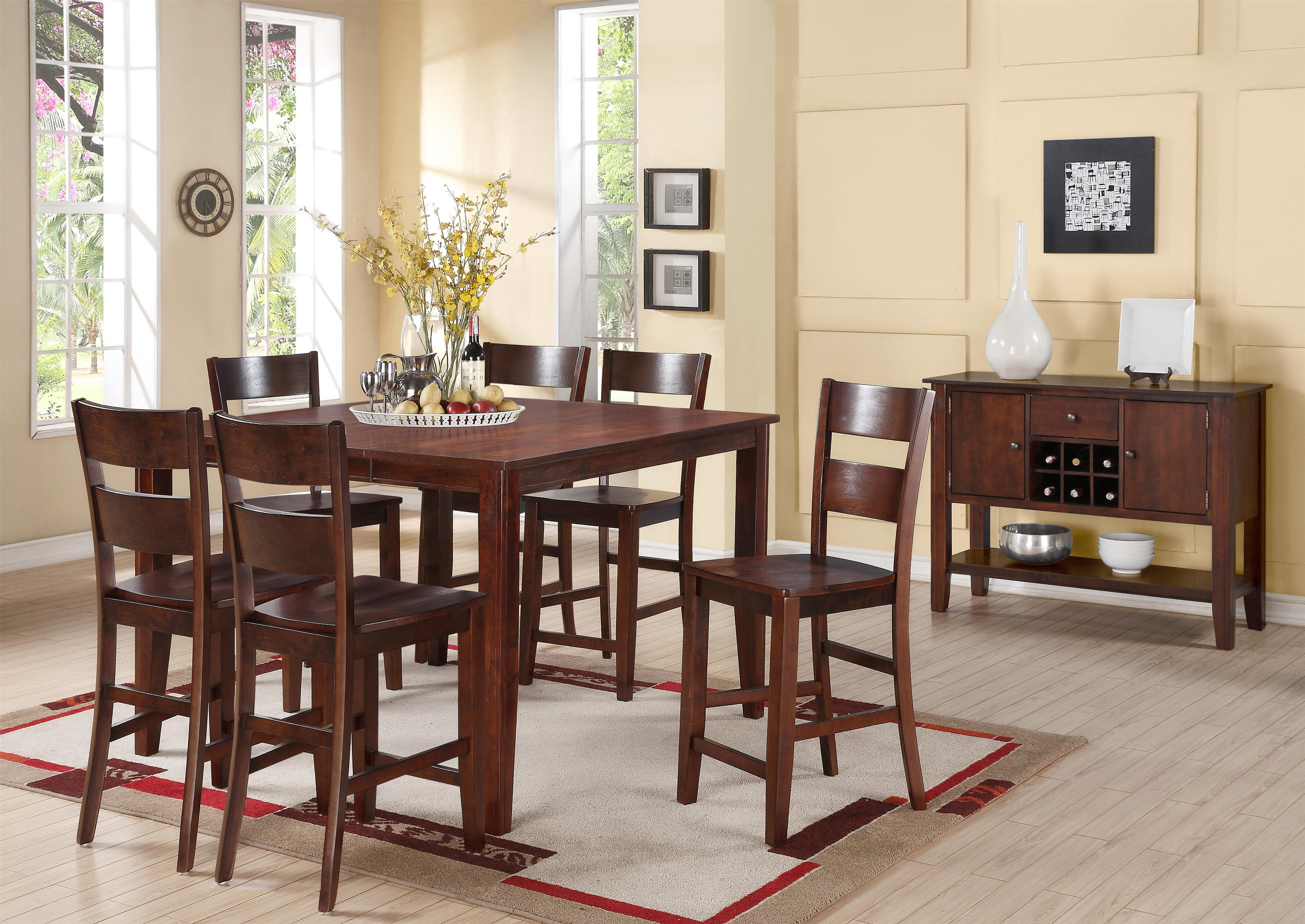 Holland House 8203 Square Counter Height Table With Tapered Legs | L Fish |  Pub Table