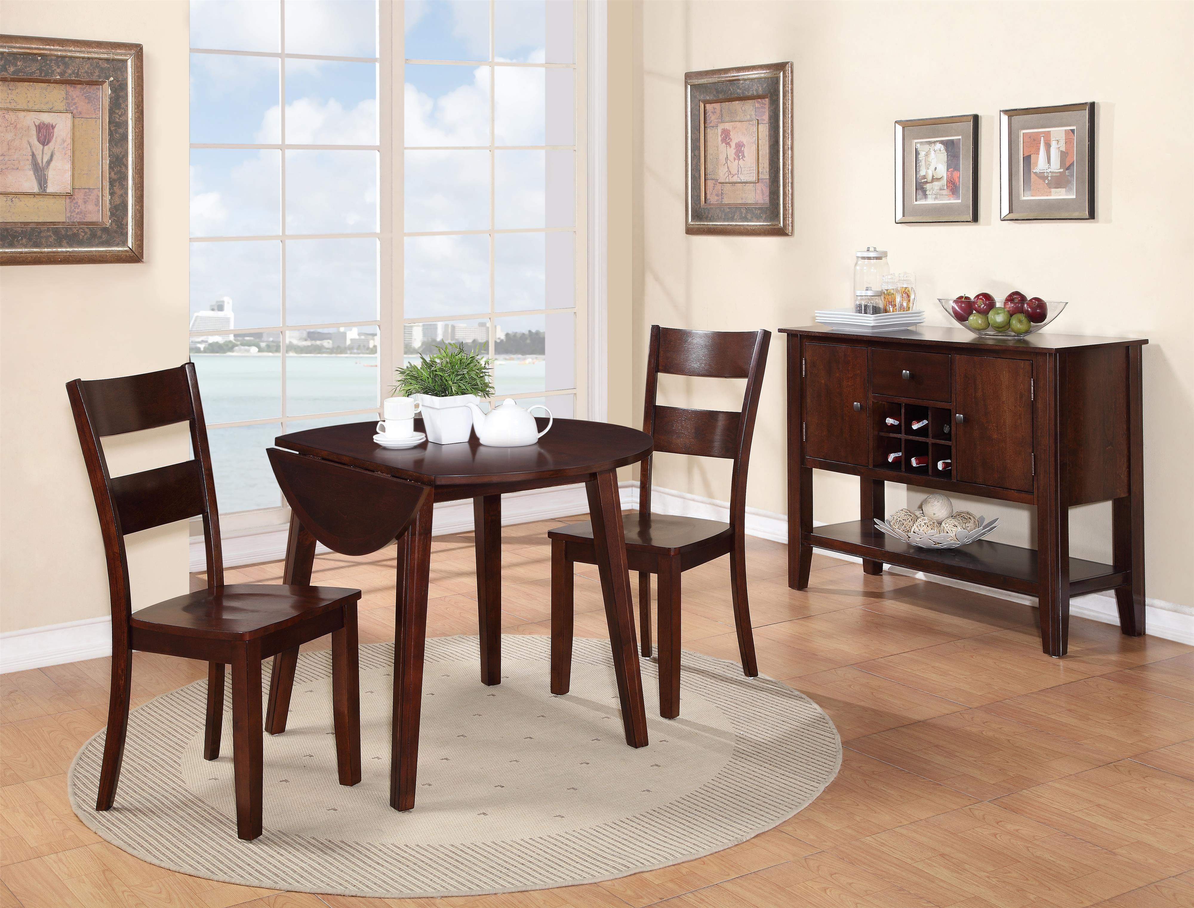 Holland House 8203 3 Piece Dining Set With Drop Leaf Table | L Fish | Dining  3 Piece Set