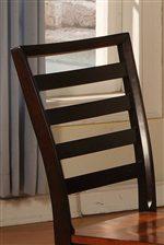 High Chair Back Has Sophisticated Horizontal Slats
