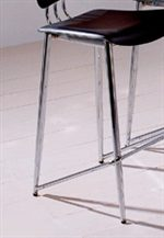 Slender Chrome-Plated Chair Legs in Silver Finish