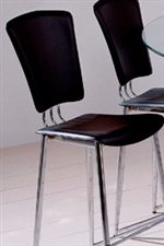 Black PVC Chair Seat and Back