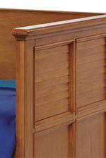 Louvre Panel Detail with Tapered Edges on Daybed
