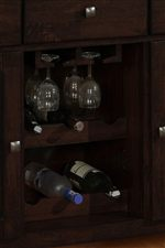 Built-in Wine Rack and Stem Glass Hang Rack