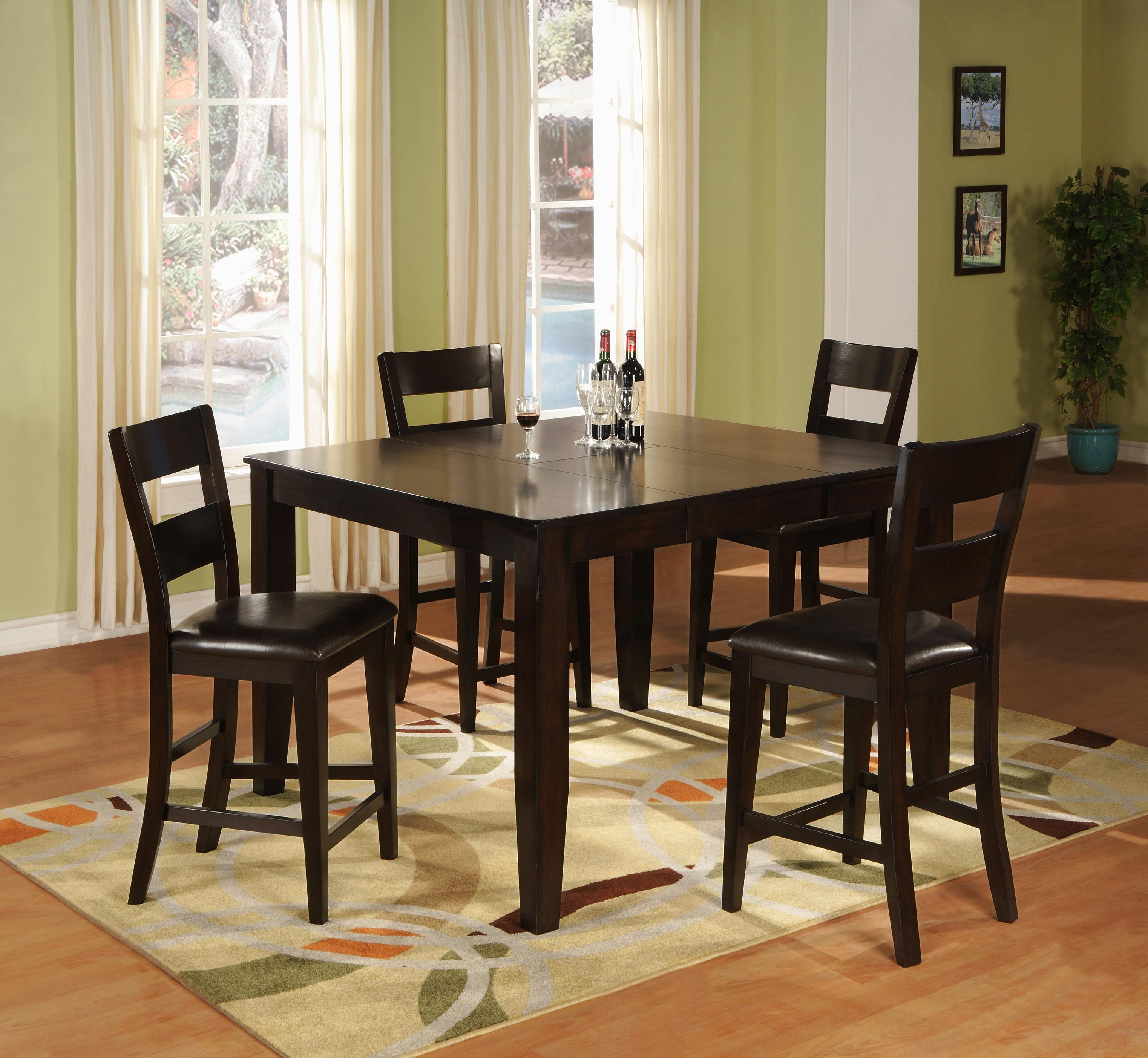 holland house bend 5 piece square top table and ladder back