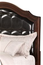 Beautiful Upholstered Headboard with Curvaceous, Arched Top