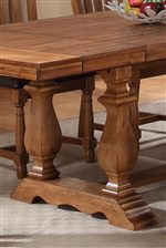 Turned Pedestals on Trestle Table