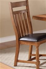 Slat Back and Turned Legs on Side Chairs