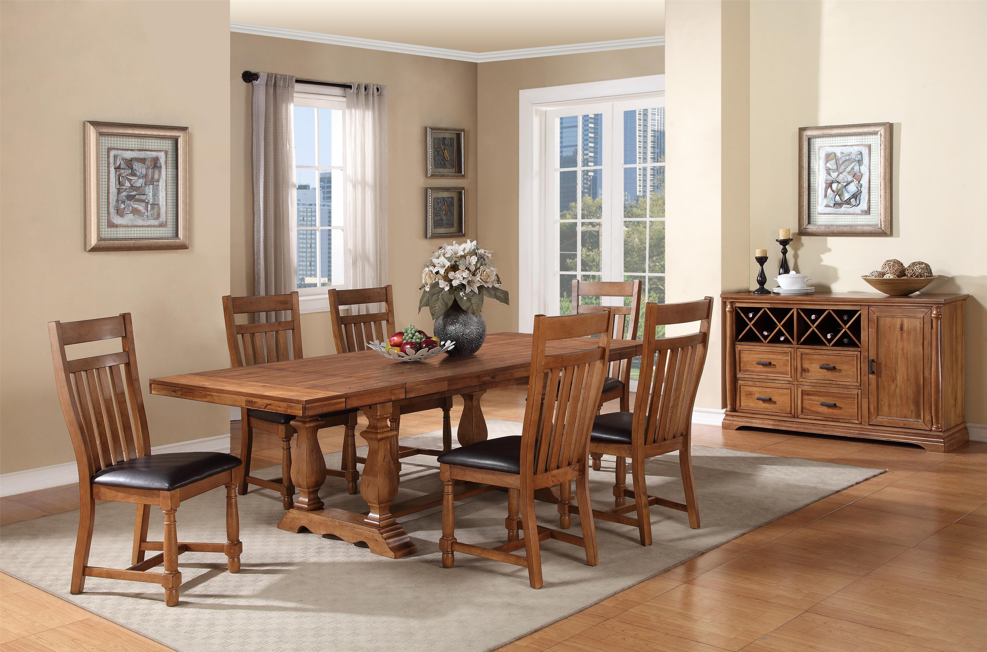Winners Only Quails Run 7 Piece Dining Table And Chair Set Yosemite Piece Dining Table