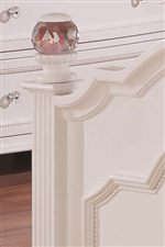 Clear, Crystal-Like Round Finials