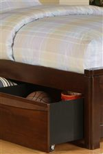An Underbed Trundle Unit Provides Convenient Storage for Toys and Accessories