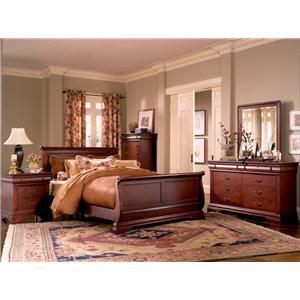 Morris Home Furnishings Hudson King Sleigh Bed
