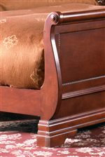 Carved Sleigh Footboard