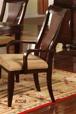 Sleek Splat Back Dining Chairs with Microfiber Seats