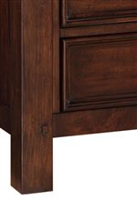 Framed Drawer Fronts and Peg Accents