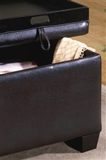Tapered Wood Legs and Removable Flip Storage Covers