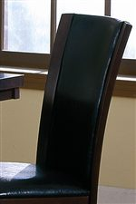 Elegant High Covered Chair Back