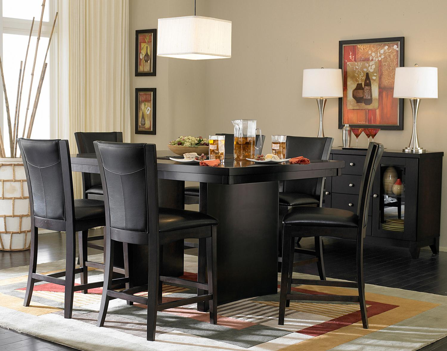 Homelegance 710 7 Piece Counter Height Glass Top Dining Set | Northeast  Factory Direct | Pub Table And Stool Set Cleveland, Eastlake, Westlake,  Mentor, ...