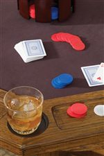 Game Table Features a Felt Playing Top, Drink-Holders and Cheap Slots