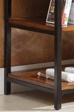 Metal Framing with Oak Shelving and Veneers