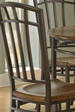 Arch Slat Back with Sculpted Seat