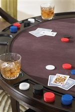 Game Table Includes Built-in Drink Holders and Cheap Slots