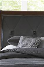 Diamond tufted upholstered headboard