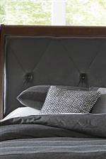 Diamond tufted upholstered headboard