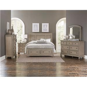 Homelegance 2259GY Dresser and Mirror