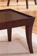 Tapered Legs and Rimmed Table Top