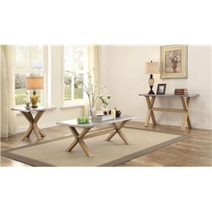 Homelegance 5100 End Table with Zinc Top