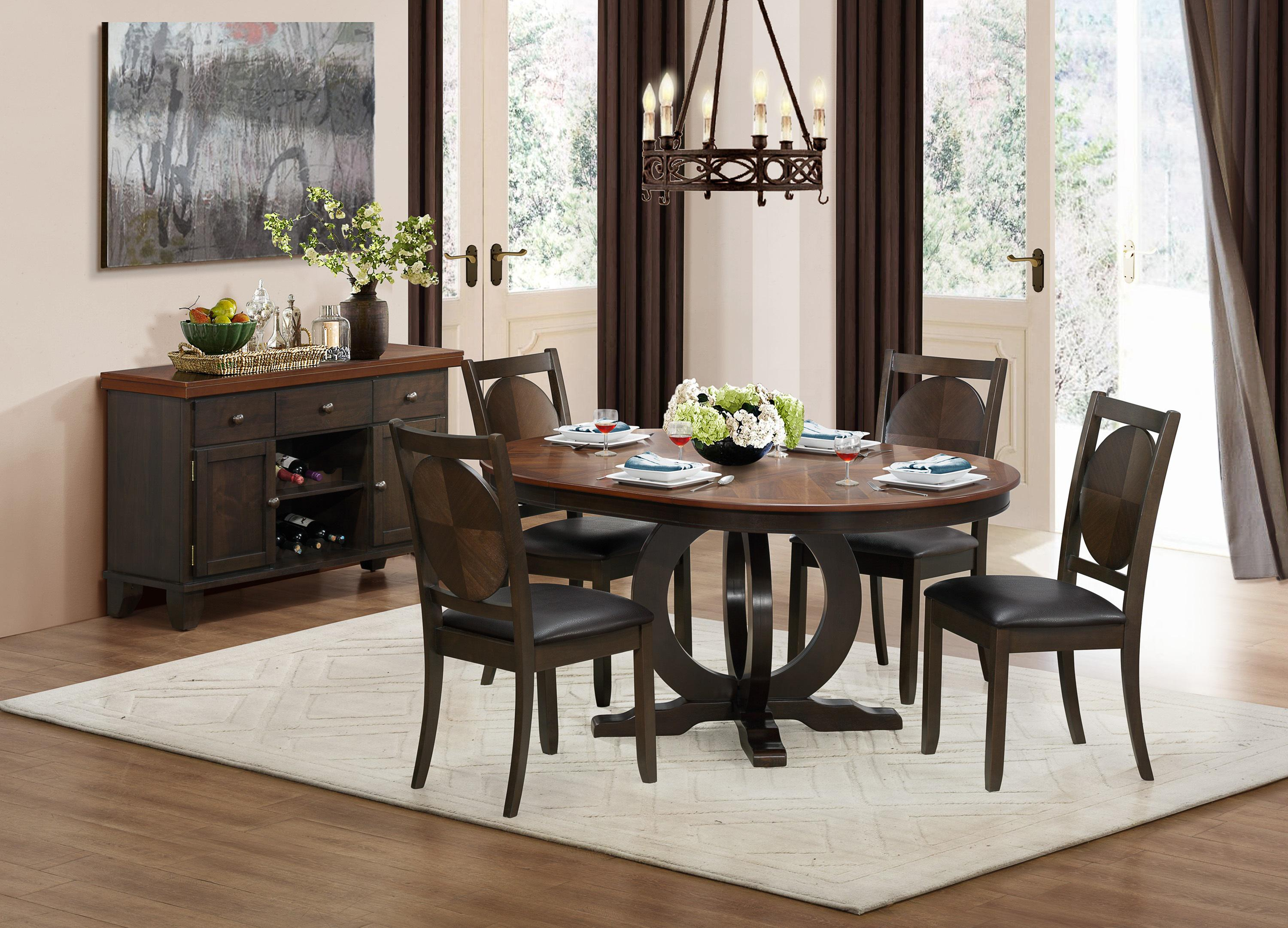 Homelegance 5111 5 Piece Dining Set with Round Table Wayside