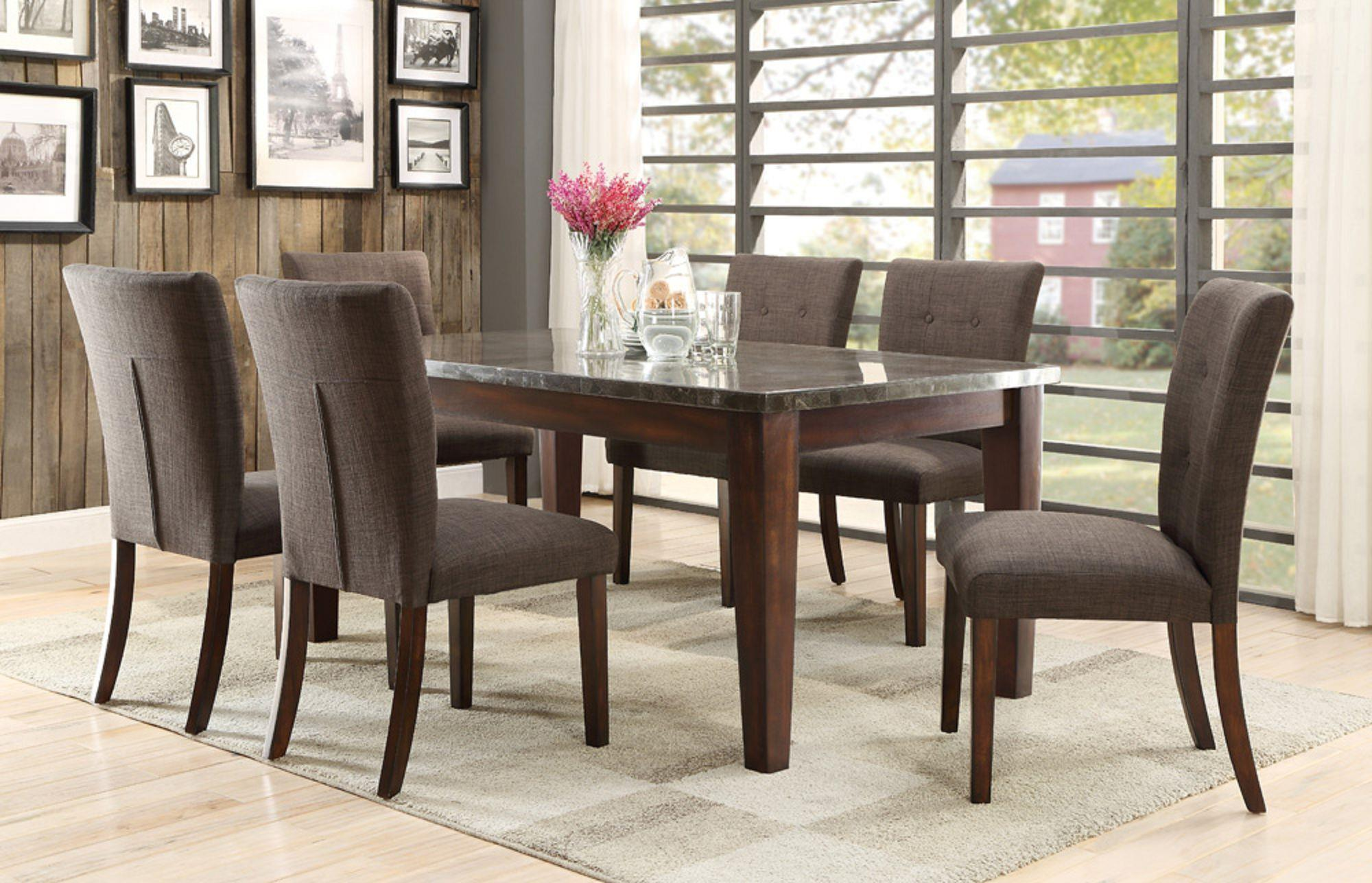 Homelegance 5281 Dining Table with Bluestone Top - Wayside ...