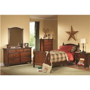 Homelegance Aris Casual 7 Drawer Dresser and Framed Mirror