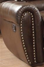 Nailhead Trim on Rolled Arm