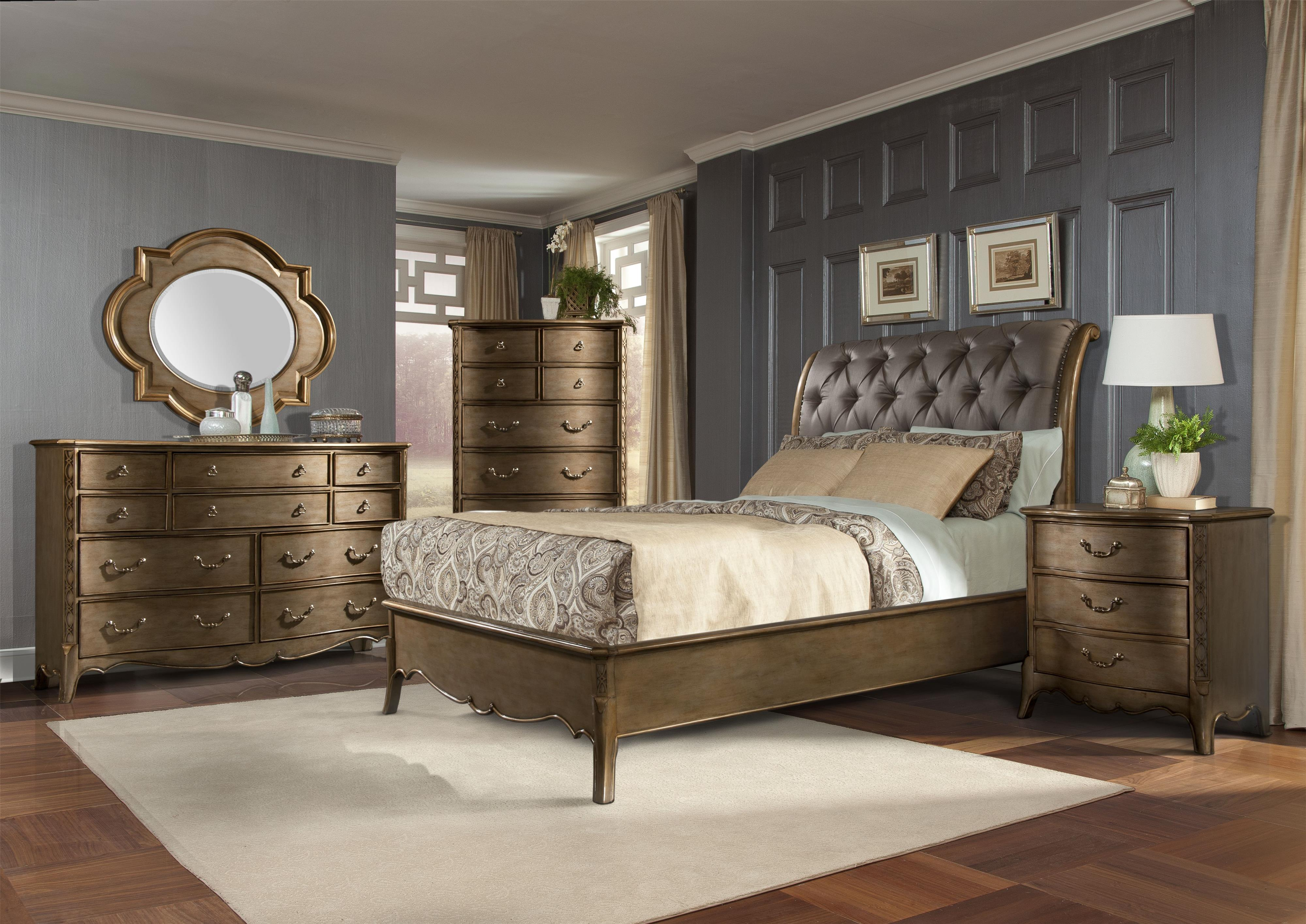 Homelegance Chambord Queen Bedroom Group - Item Number: 1828 Q Bedroom Group 2