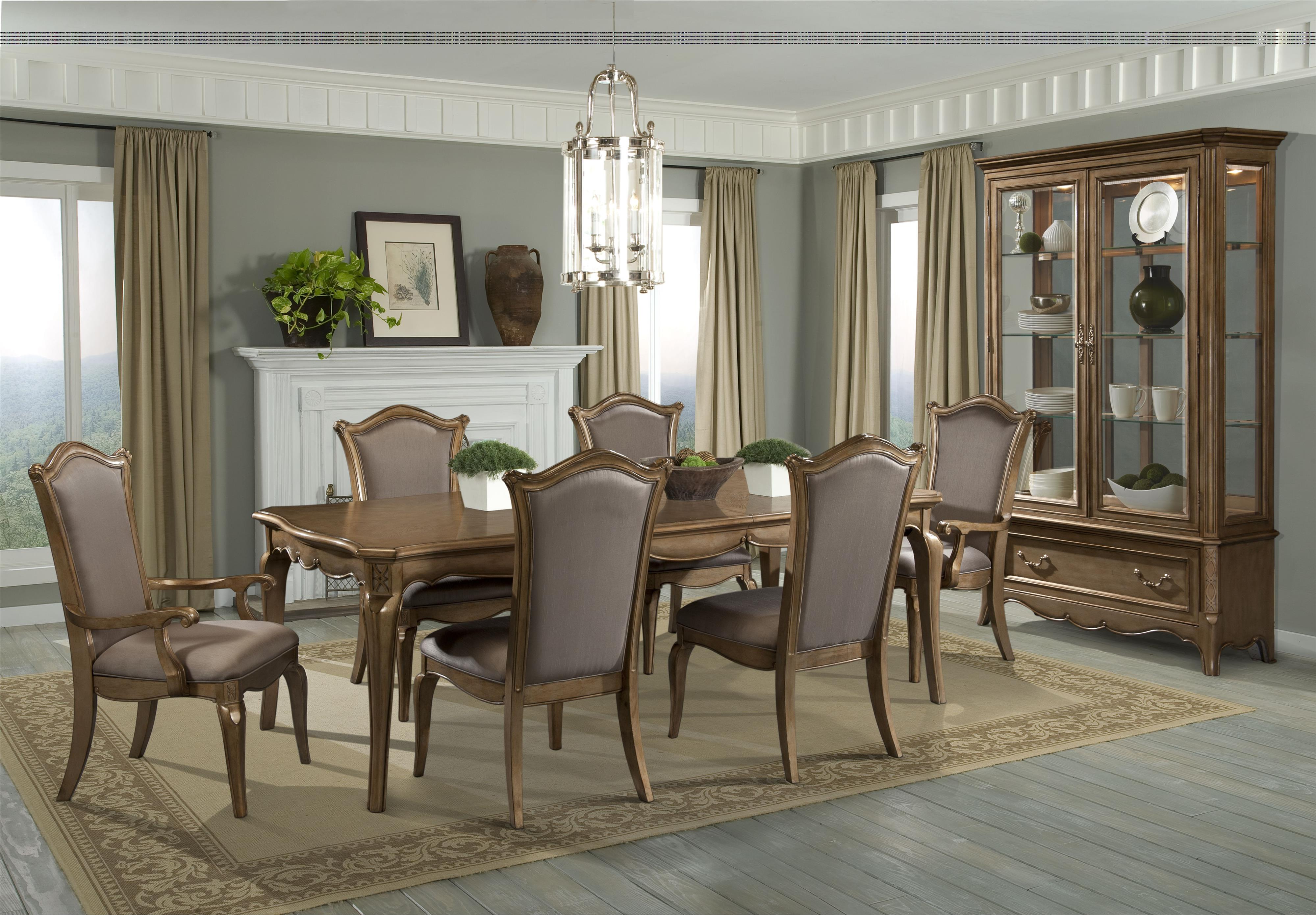 homelegance chambord 7 piece dining set with uphosltered chairs wayside furniture dining 7 or more piece set
