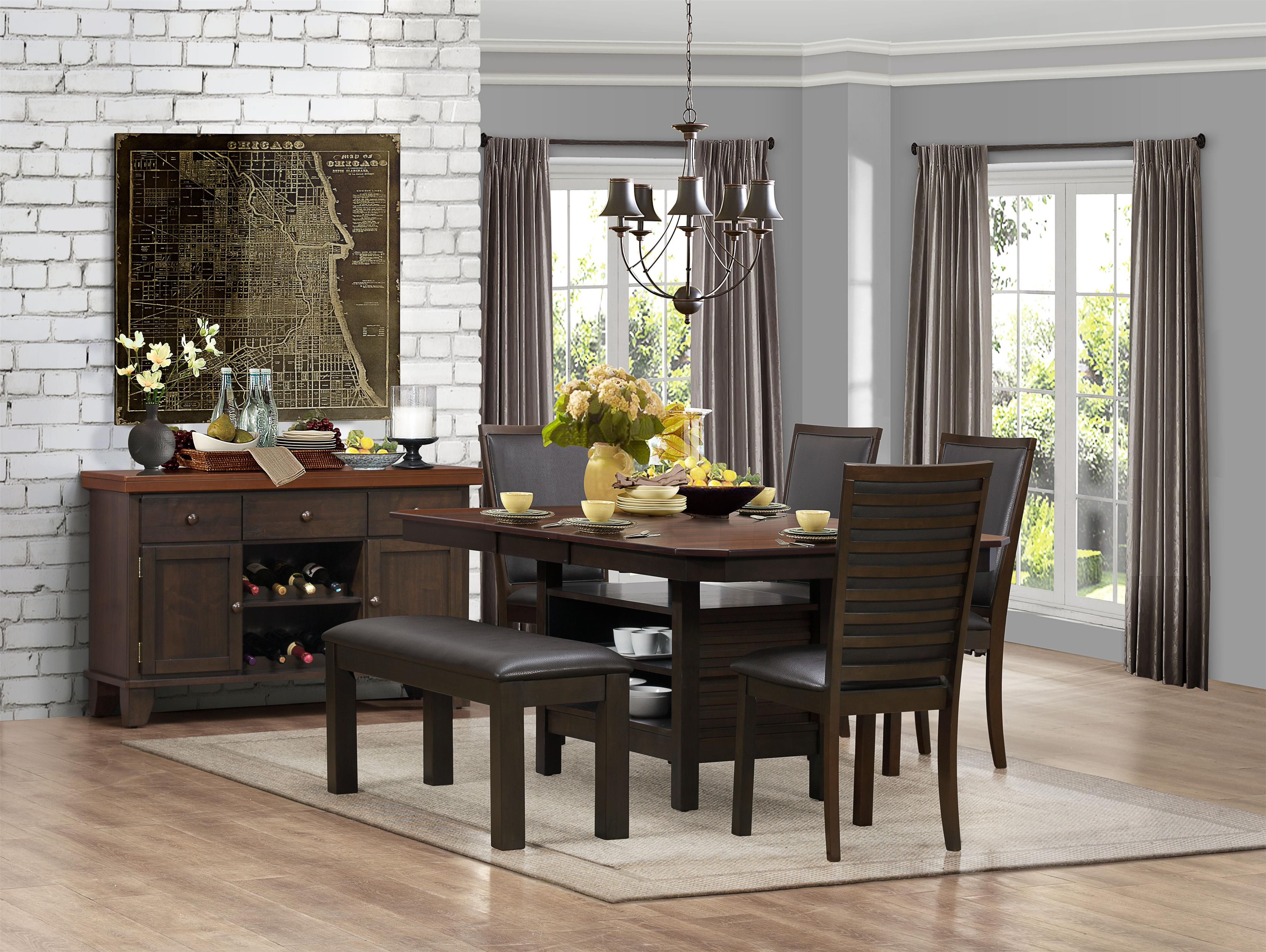 Homelegance Corliss Casual Dining Room Group - Item Number: 5136 Dining Room Group 1