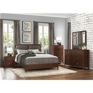 Homelegance Cullen Contemporary 6-Drawer Dresser and Mirror