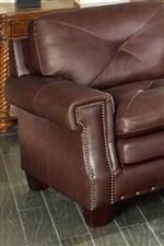 Nailhead Trim Accents Square Arms