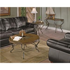 Homelegance Jenkins Traditional Scrolled Metal Sofa Table