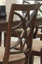Overlapping Design on Dining Chair Backs