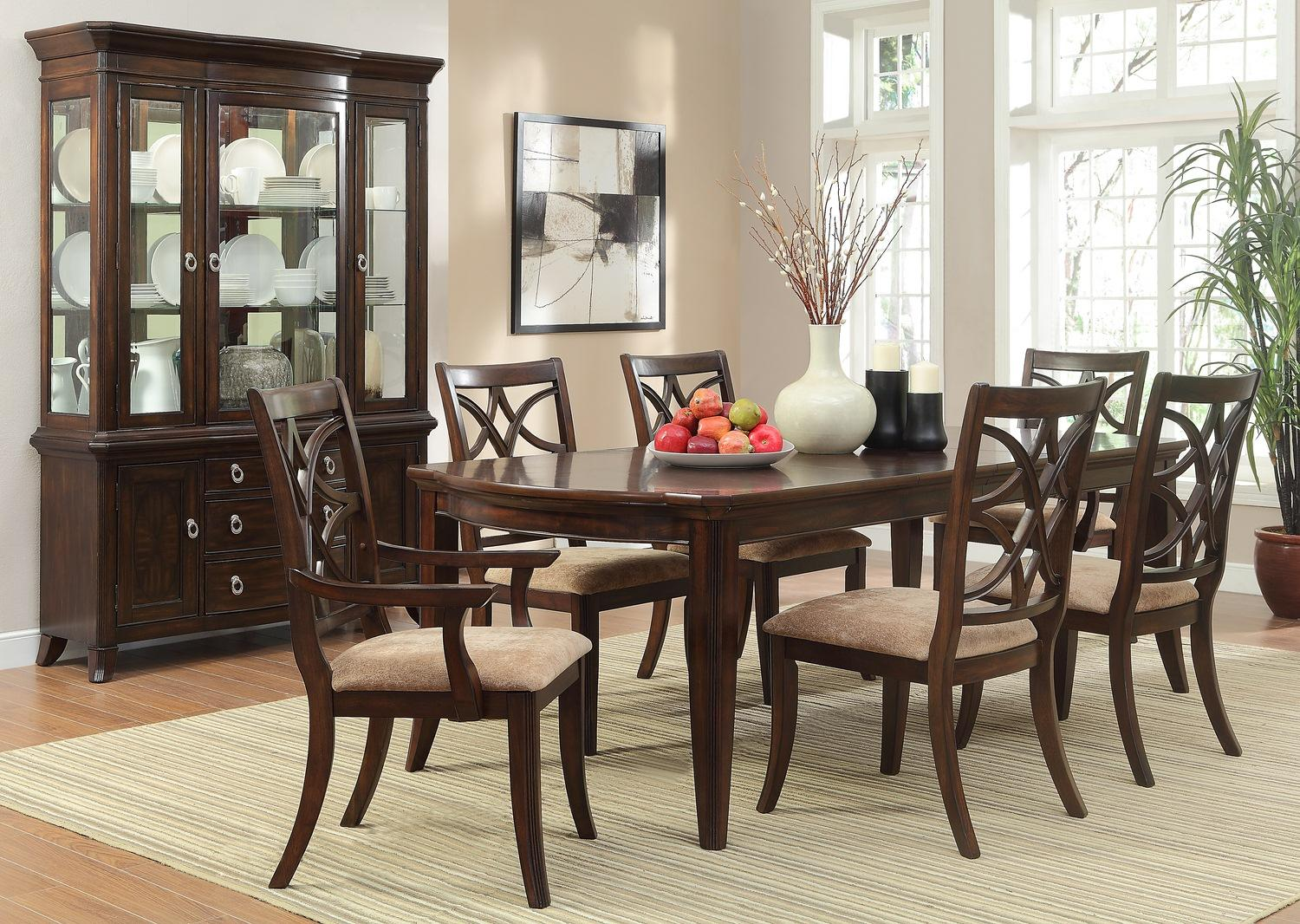 Homelegance Keegan 7 Piece Dining Set With Rectangular Table   Wayside  Furniture   Dining 7 (or More) Piece Set